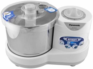 Panasonic 230-Watt Plastic Wet Grinder With Automatic Timer, 2 Litres, White and Metallic​ sample