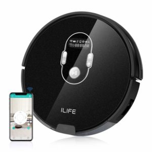 ILIFE A7 Robotic Vacuum Cleaner with High Suction, LCD Display, Multi-Task Schedule, WiFi APP Control and Dual Roller Brushes for Hard Floor and Thin Carpets sample