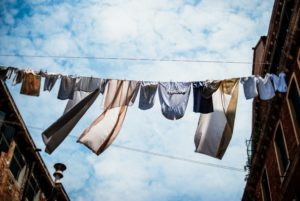 Dry clothes tips