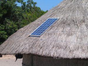 Solar Panel on Hut sample