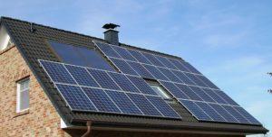 Solar panel on terrace
