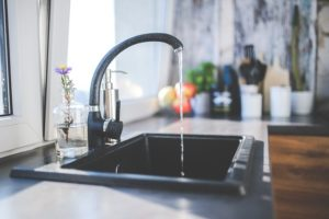 Kitchen granite sink with open water