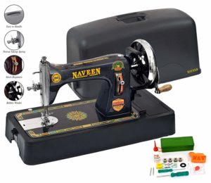 Naveen Sewing Machine Domestic Square Model with Coverset