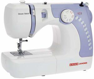 Usha Janome automatic stitch magic sewing machine ( white and blue )