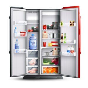 side by side fridge sample