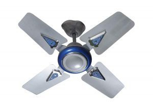 Hillton Fusion 600mm Hi-Speed 4 Blade Ceiling Fan with 2 Years Warranty (Silver Met)