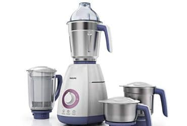 Philips Viva Collection HL7701/00 750-Watt Mixer Grinder with 4 Jars (Elegant Lavender and White) sample