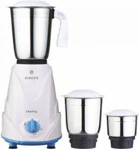 Singer Chefy cheffy 500 W Mixer Grinder (White, 3 Jars) sample