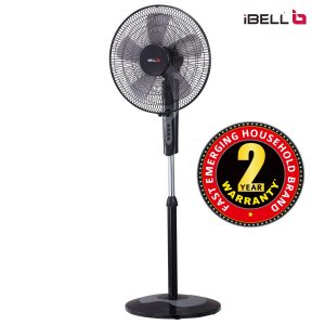 iBELL CHROME10 Pedestal Fan 5 Leaf,406 mm, High Speed with Timer Switch (Black) sample