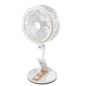 CITRA LR-2018 Powerful Rechargeable Table Cum Wall AC DC Fan with 21 SMD LED Light, Assorted sample