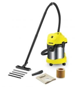 Karcher WD 3 Premium Wet and Dry Vacuum Cleaner -Yellow & Black sample