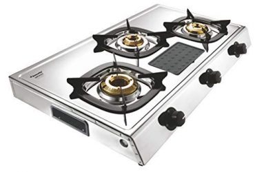 Butterfly Stainless Steel Matchless LPG Gas Stove 3 Burner model
