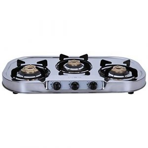 Elica 3 Burner Stainless Steel Gas Stove model